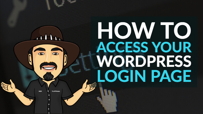 How to access your WordPress login page