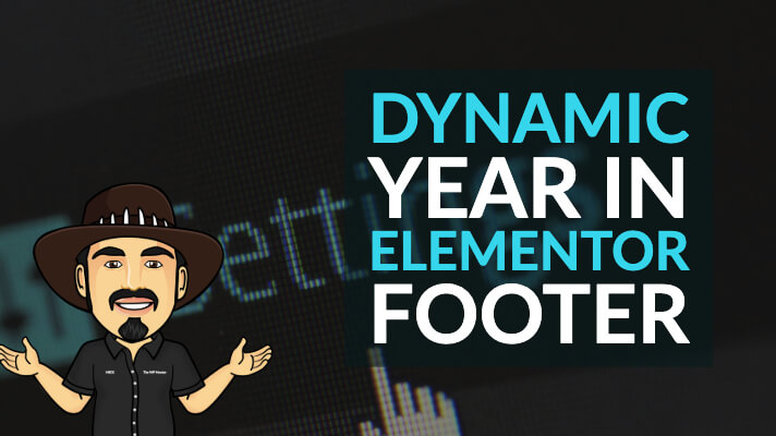 How to add Dynamic Year in Elementor footer
