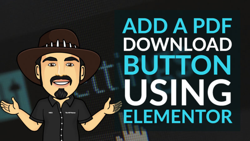 Add a PDF Download Button using Elementor