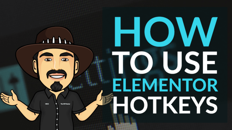 How to use Elementor Hotkeys
